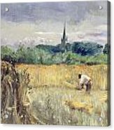 Harvest Field At Stratford Upon Avon Acrylic Print