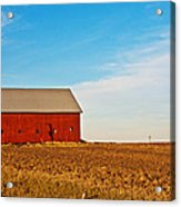 Harvest Is In Acrylic Print