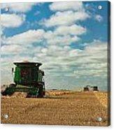 Harvest On The Canadian Prairies Acrylic Print