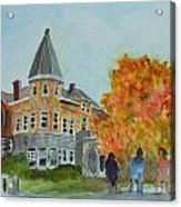 Haskell Free Library In Autumn Acrylic Print
