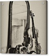 Hat And Fiddle Acrylic Print
