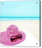 Hat And Sunglasses Acrylic Print