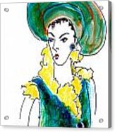 Hat Lady 16 Acrylic Print