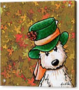 Hat Season Cairn Terrier Acrylic Print by Kim Niles