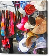 Hats And Purses At Street Fair Acrylic Print