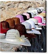 Hats On The Rocks Acrylic Print