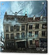 Haunted House Acrylic Print by Jutta Maria Pusl