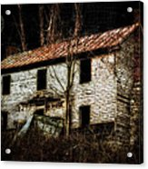 Haunted House On The Hill Acrylic Print by Kathy Jennings