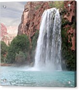Havasu Waterfall Acrylic Print by Chris Hill