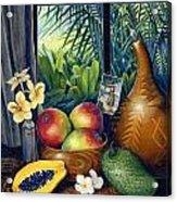 Hawaiian Still Life Acrylic Print by Anne Wertheim