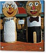 Hay Bale Wedding Acrylic Print