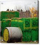 Hay Tractor Acrylic Print