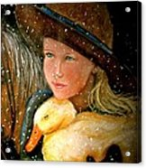 Hayden Acrylic Print by Susan Elise Shiebler