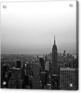 Hazy City Of New York Acrylic Print