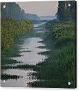 Hazy Morning At Logging Canal Acrylic Print