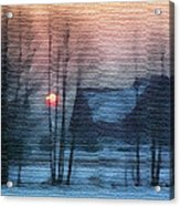 Hazy Winter Morning Acrylic Print by Anthony Caruso