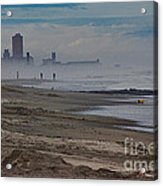 Hdr Beach Beaches Ocean Sea Seaview Waves Sandy Photos Pictures Photography Scenic Photograph Photo  Acrylic Print by Pictures HDR