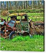 Hdr Wreck Acrylic Print