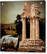 Head At Temple Of Castor And Pollux Acrylic Print