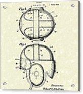 Headgear 1926 Patent Art Acrylic Print by Prior Art Design