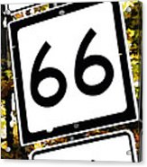 Heading West On Route 66 Acrylic Print