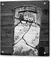 Headstone Of Lafayette Meeks Acrylic Print