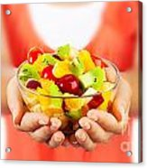 Healthy Fruit Salad Acrylic Print by Anna Om