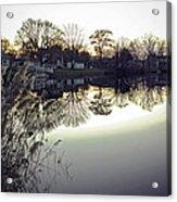 Hearns Pond Reflection Acrylic Print
