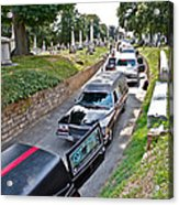 Hearses At Laurel Hill Cemetery Acrylic Print