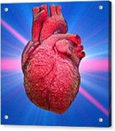 Heart And Lightbeams Acrylic Print