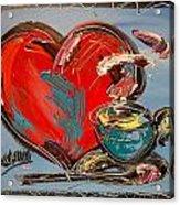 Heart Coffee Cup Acrylic Print