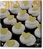 Heart Cupcakes Acrylic Print
