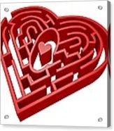 Heart Maze, Computer Artwork Acrylic Print