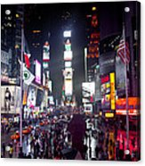 Heart Of Times Square Acrylic Print