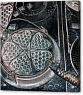 Heart Waffle Iron Acrylic Print