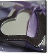 Heart With Purple Ribbon Acrylic Print