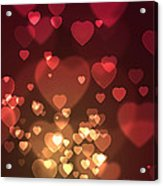 Hearts Background Acrylic Print