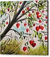 Hearts Grow On Trees Acrylic Print