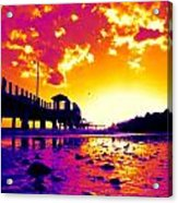 Heat Wave Sunset Acrylic Print