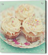 Heavenly Cupcakes Acrylic Print by Karin A photography