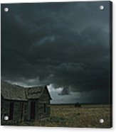 Heavy Dark Clouds Foretell A Possible Acrylic Print