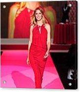 Heidi Klum Wearing A John Galliano Gown Acrylic Print