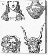 Heinrich Schliemann Acrylic Print