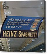 Heinz Spaghetti Train Ad Signage Digital Art Acrylic Print