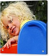 Helena On The Slide Acrylic Print