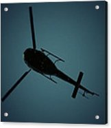 Helicopter Silhouette Acrylic Print