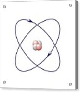 Helium, Atomic Model Acrylic Print