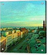 Helsingborg And Oresund Beyond Acrylic Print