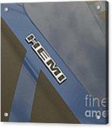 Hemi Emblem Acrylic Print