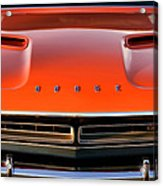 Hemi Orange 1971 Dodge Challenger Acrylic Print